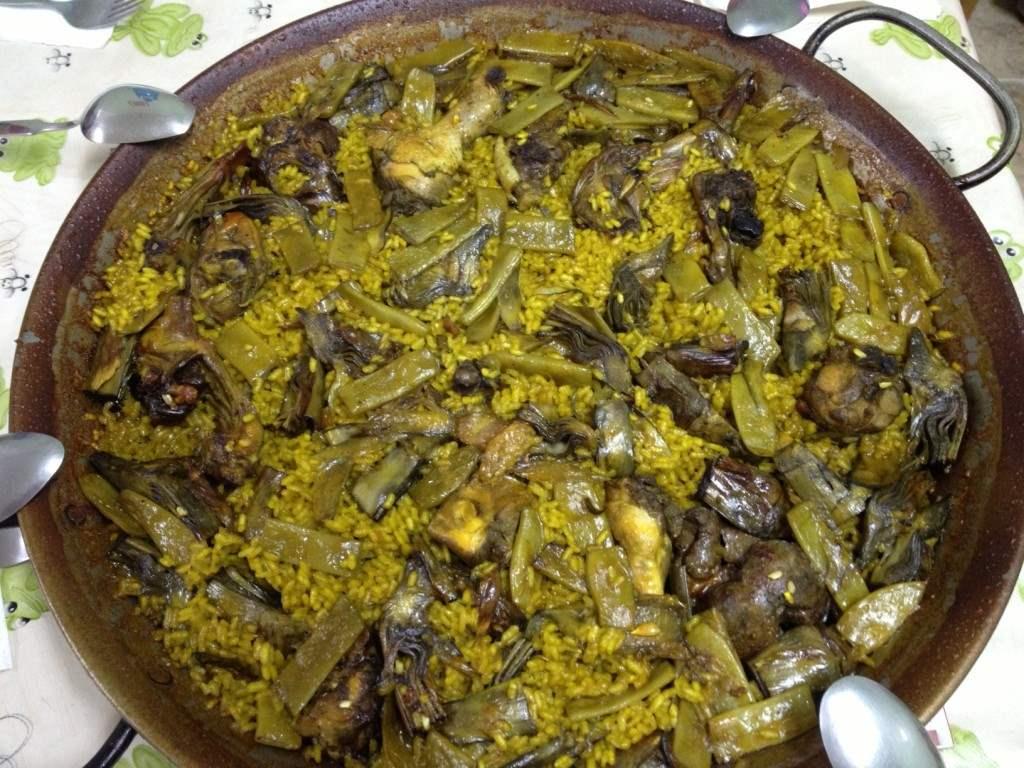 Paella de habas y alcachofas no mata engorda - Arroz con alcachofas y jamon ...