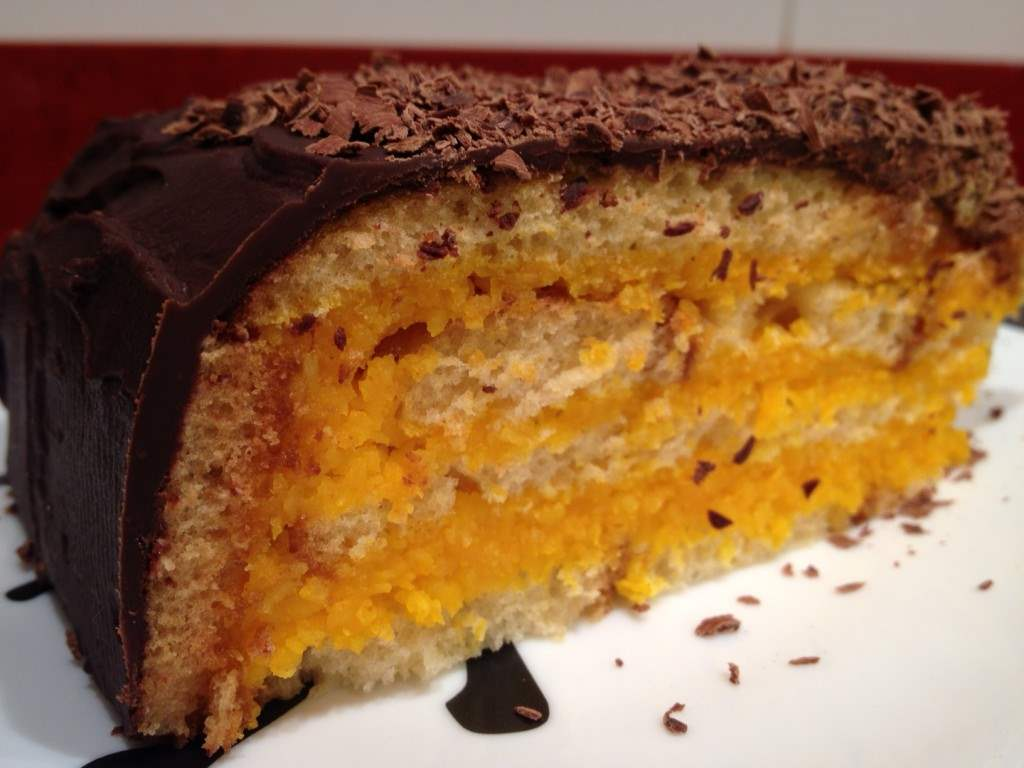 Tarta de Chocolate, zanahoria y coco.